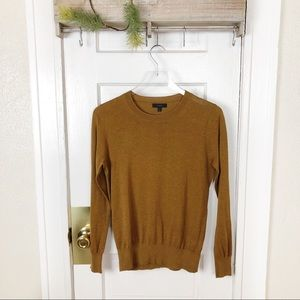 J. Crew Summerweight Sweater Cotton Brown Small
